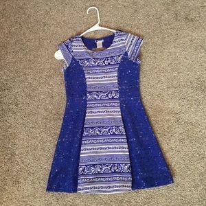 Emily west blue/ white size 10 girls dress
